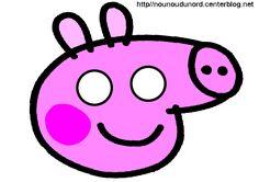 masque peppa pig d'autres modèles à imprimer cliquez sur mon lien http://nounoudunord.centerblog.net/4209-masques-a-imprimer-classes-par-ordre-alphabetique