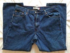 87e1396e Levis 505 Regular Fit Size 40x32 Men's Blue Jeans Size 40 by 32 EUC Zipper  Fly