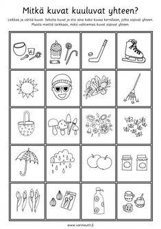 Päättelytehtävät - Värinautit Kids Math Worksheets, Becoming A Teacher, Math For Kids, Kindergarten, How To Become, Playing Cards, Mindfulness, School, Teacher Stuff