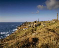 The surface remains of Levant Mine, near St Just, Cornwall, including stacks and…