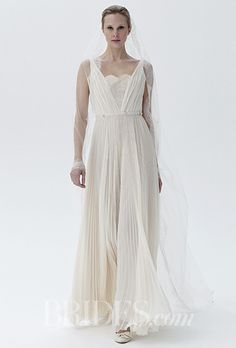 A flowy, bohemian @peterlangner wedding dress | Brides.com