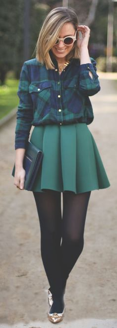 Neoprene Skirt by My Showroom Blog