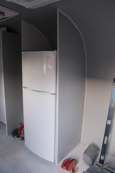 Another Airstream remodel... even with full fridge