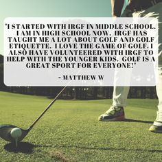 Thank you, Matthew! Have you had a good time with us? We would love to hear about it! Please leave us a review for a chance to be featured on our social media. Golf Training, Training Center, In High School, Middle School, Golf Now, Athletic Scholarships, Indian River County, Golf Etiquette, Vero Beach Fl