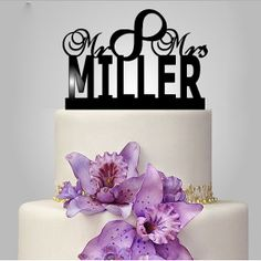 Just married wedding cake decor vintage custom cake by walldecal76, $14.00