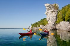 Outdoor Adventures on Georgian Bay, Ontario, Canada - Travel and Tourism Guide Flowerpot Island, Canada Pictures, Ontario Travel, Canadian Travel, Destinations, Travel And Tourism, Natural Wonders, The Great Outdoors, Wonders Of The World