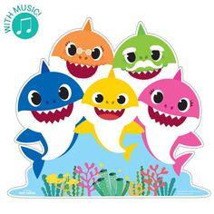 Baby Shark Family Standup Baby Hai, Baby Shark Music, Bus Crafts, Arte Elemental, Shark Family, Eid Stickers, Shark Swimming, Personalized Banners, Shark Shirt