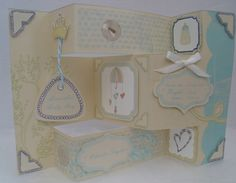 New baby boy card made on Craft Artist