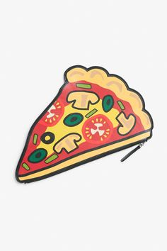 What's better than pizza available 24/7? Pizza that holds your stuff! Use this graphic printed, zip-close clutch as an entertaining flourish for an outfit or as a handy pouch for your art supplies, make up, etc.  colour: print perfection  measurements: 31 * 20 cm