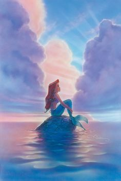 The Little Mermaid Ariel Disney Fine Art Giclee by John Alvin . Ariel Disney, Goth Disney, Disney Amor, Disney Magic, Walt Disney, Ariel Ariel, Mermaid Disney, Disney Animation, Disney And Dreamworks