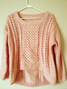 Chunky peach sweater - $30.00