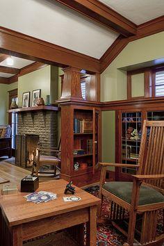 Craftsman Design & Renovation - - Kidder Whole House Remodel. Craftsman Style Interiors, Bungalow Interiors, Craftsman Interior, Modern Craftsman, Craftsman Style Homes, Craftsman Bungalows, Craftsman Living Rooms, Craftsman Decor, Craftsman Houses