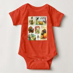 Thanksgiving Medley Vintage Baby Clothes Baby Bodysuit - kids kid child gift idea diy personalize design