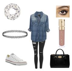 """""""Date with my bæ♡"""" by unicornlena on Polyvore featuring Topshop, Converse, Accessorize, Rails, Mulberry, Charlotte Tilbury, Smith & Cult, women's clothing, women's fashion and women"""
