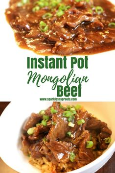 Quick and Easy Instant Pot Mongolian Beef is a must make for dinner.  It is ready in less than 30 minutes, making it perfect for the busiest of nights! . #beef #steak #mongolianbeef #instantpot #chinesefood #takeoutathome #recipe #sparklesnsprouts