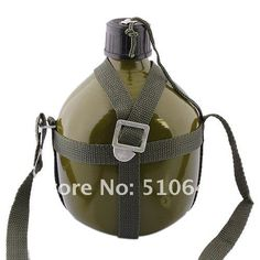Aliexpress.com : Buy Outdoor Aluminum Military Sports Water Bottle with Shoulder Strap Army Green (1.5L) 53181 from Reliable Water Bottle suppliers on Chinatownmart (HongKong) Limited