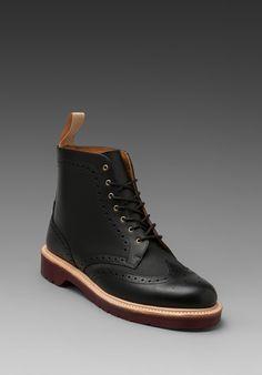 DR. MARTENS Bentley Brogue Boot in Black