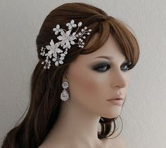 SALE Bird Cage Veil Comb Bridal Hair Piece by EleganceByKate