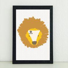 Illustrationen - Lil der Löwe: Bild Illustration Kunstdruck - ein Designerstück von miameideblog bei DaWanda