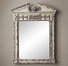 Entablature Mirror Antiqued Grey
