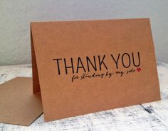 3 Bridesmaids thank you cards  Set of 3 by TexasFarmersDaughter
