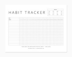 free printable habit tracker