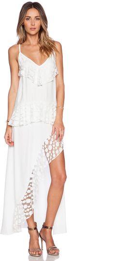 Shakuhachi Stevie Lace Trim Split Dress