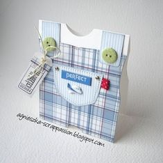 Baby card for boy