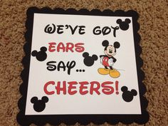 Mickey Mouse Minnie Mouse Disney Birthday Party We've Got Ears Say Cheers Sign Banner on Etsy, $6.50