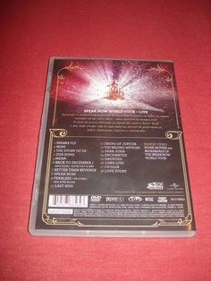 taylor swift - speak now world tour live (dvd) - música universal music group