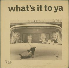 WHAT'S IT TO YA s/t LP RARE PRIVATE INDIANA PSYCH Huh Records