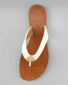 Tory Burch Thora Leather Thong Sandal - Neiman Marcus