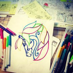 """""""Working on a new embroidery design 🐴 is fun will be involved…"""" New Embroidery Designs, Pony Horse, Fun Art, Bandanas, Chicken, Board, Inspiration, Instagram, Biblical Inspiration"""