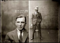 A police mugshot from the 1920s. The one on the right could be a fashion ad!