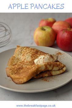 Apple pancakes with cinnamon Slimming World Pancakes, Milk And Eggs, Cinnamon Apples, Brunch, Snacks, Cooking, Healthy, Breakfast, Desserts