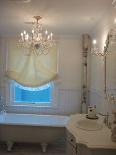 Roman Shade - for hall bath