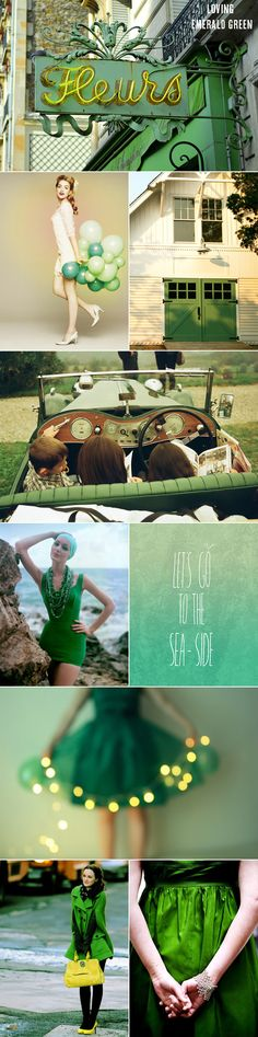 Emerald green //via The Sweetest Occasion