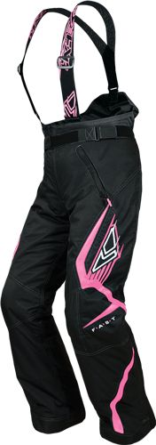 FXR Racing - Snowmobile Sled Gear - Wmn's Nitro Girl Pant - Blk/Pink