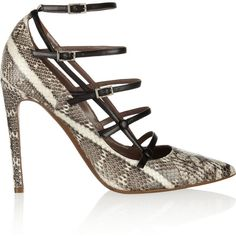 Tabitha Simmons Josephina elaphe pumps ($404) ❤ liked on Polyvore featuring shoes, pumps, heels, tabitha simmons, leopard print, pointed-toe pumps, leopard shoes, leopard print pumps, leopard pointed toe pumps and high heel pumps