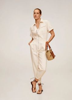 7 Affordable Fashion Brands Everyone Should Know About Jeans Overall Damen, Denim Overall, Long Jumpsuits, Playsuits, Jumpsuits For Women, High Street Fashion, Mango France, Denim Jumpsuit, Trousers