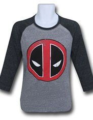 Deadpool Distressed Symbol Raglan T-Shirt