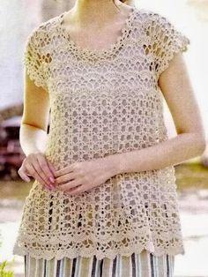 Different Tunic Crochet Patterns #TunicCrochetPatterns