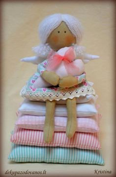 Patchwork dolls.