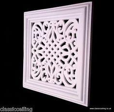 Victorian air vent cover 12 x 12 vectra design by classicceiling Air Return Vent Cover, Air Vent Covers, Fireplace Vent, Paint Fireplace, Vent Registers, Austin Stone, Gable Vents, Bathroom Artwork, Victorian Design