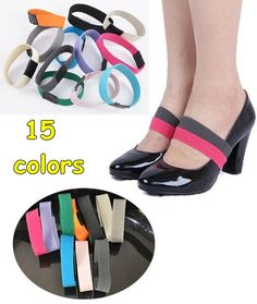 Zapatos Accessories 100pair / lot ~ correa cruzada elástico ~ bandas elásticas para tacones altos ~ 15 colores disponibles ~ DHL envío gratis en Decoraciones de Calzado en AliExpress.com | Alibaba Group
