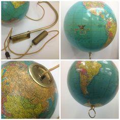ON SALE Vintage 10 Replogle Library Globe light by DecorAdorations, $250.00