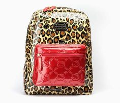 red hello kitty backpack | HK | | HELLO KITTY Red Leopard Backpack