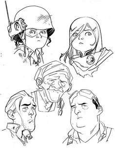 Character sketches by Stuart Immonen *