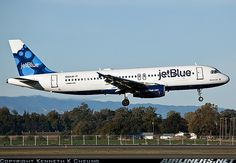 JetBlue has two types of aircraft in their fleet, this is the Airbus 320 which is configured for 150 passengers.