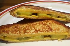 Aim s Favorite Pickle Cheese Melt from Food.com:   								You know, growing up, I had all sorts of funny combos of food I liked.  This one seems to be the one I am still eating when I want a snack and nothing else in the house sounds good.  I love it with Chicken Noodle Soup.